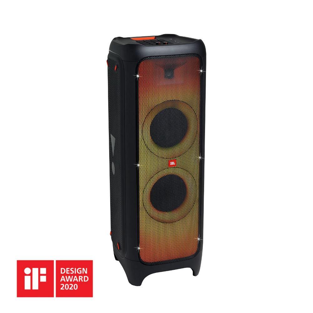 Caixa de Som JBL PartyBox 1000 Bluetooth 1100W RMS DJ Pad com Luzes Entrada USB Microfone Guitarra