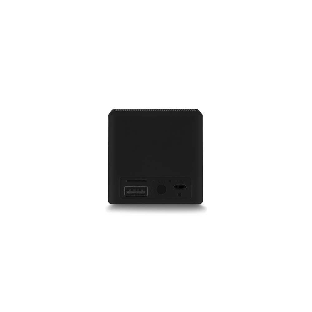 Caixa de Som Multilaser SmarTo GO SP305 Preta Cubo Speaker Bluetooth com Entrada para Cartão Micro SD