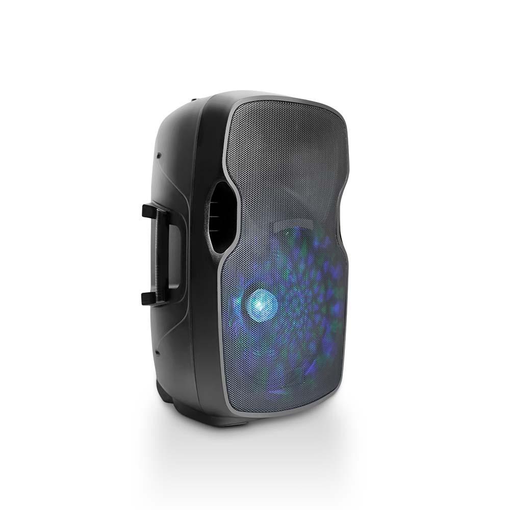 Caixa de Som Multilaser SP263 Profissional 500W Bluetooth com Bateria Microfone Sem fio USB SD