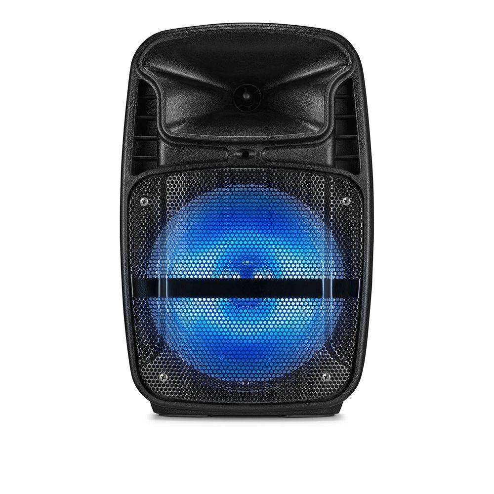 Caixa De Som Multilaser SP293 Bluetooth 80W RMS com Bateria Rádio FM Entrada USB SD