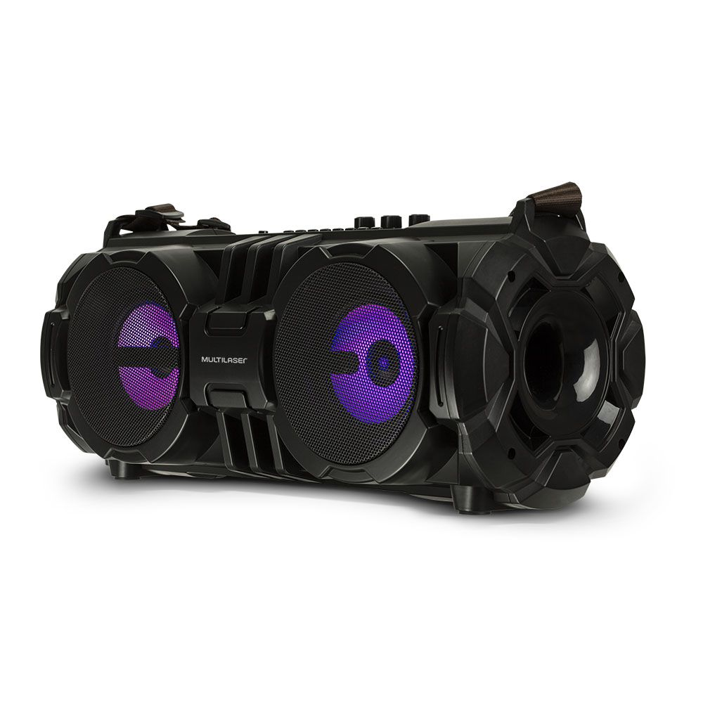 Caixa de Som Multilaser SP302 Bazooka Bluetooth 100W RMS Rádio FM Pendrive USB Micro SD Aux