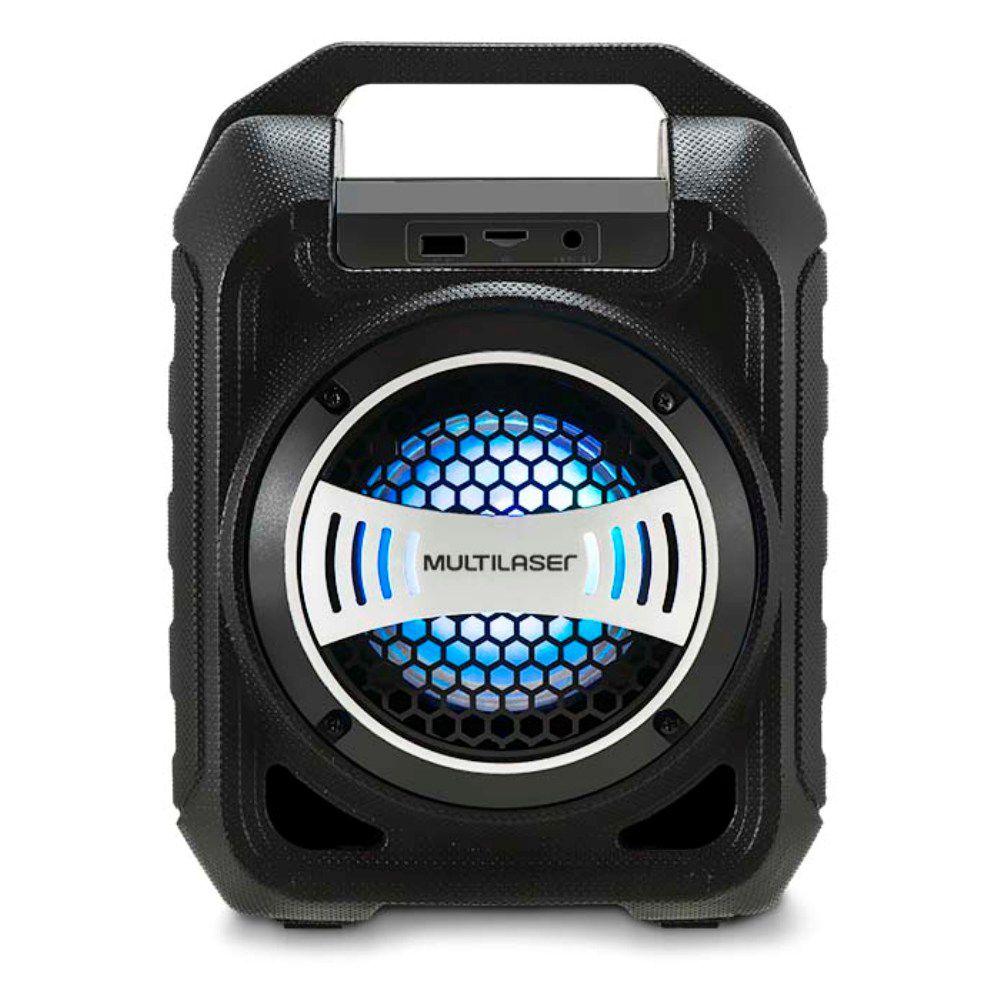 Caixa de Som Multilaser SP313 Bluetooth 30W RMS Entrada para Pendrive USB Auxiliar Micro SD Rádio FM