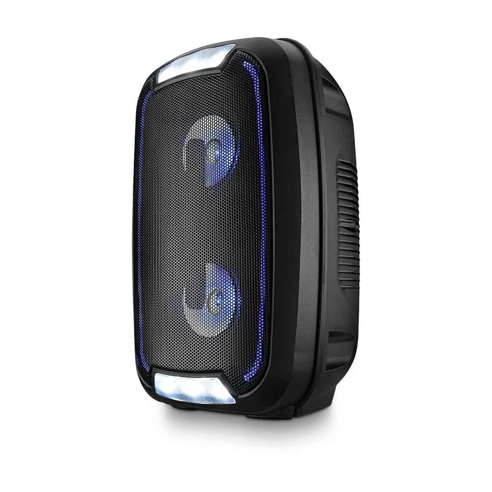 Caixa de Som Multilaser SP336 Party 200W Bluetooth TWS Luzes LED Rádio FM Entrada para Pendrive USB