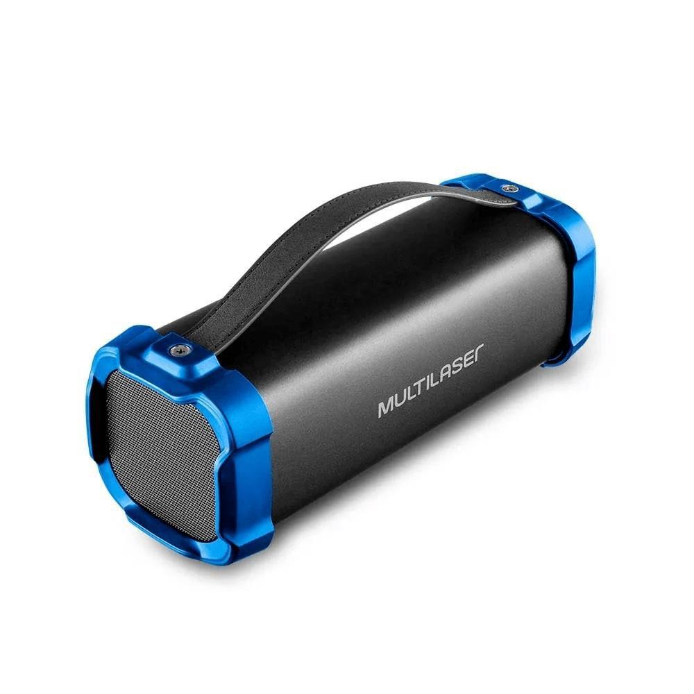 Caixa de Som Multilaser SP350 Bazooka 50W Bluetooth Rádio FM Entrada para Pendrive USB Micro SD AUX