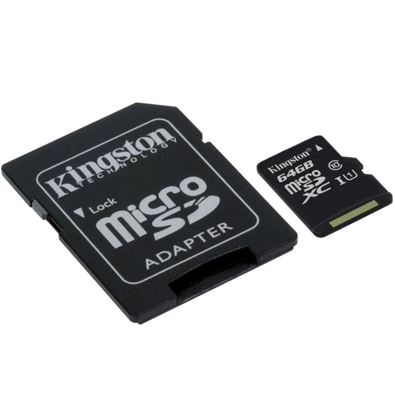 Cartão de Memória Kingston Micro SD XC 64GB Classe 10 80mb/s HD Vídeo para Celular Smartphone Câmera