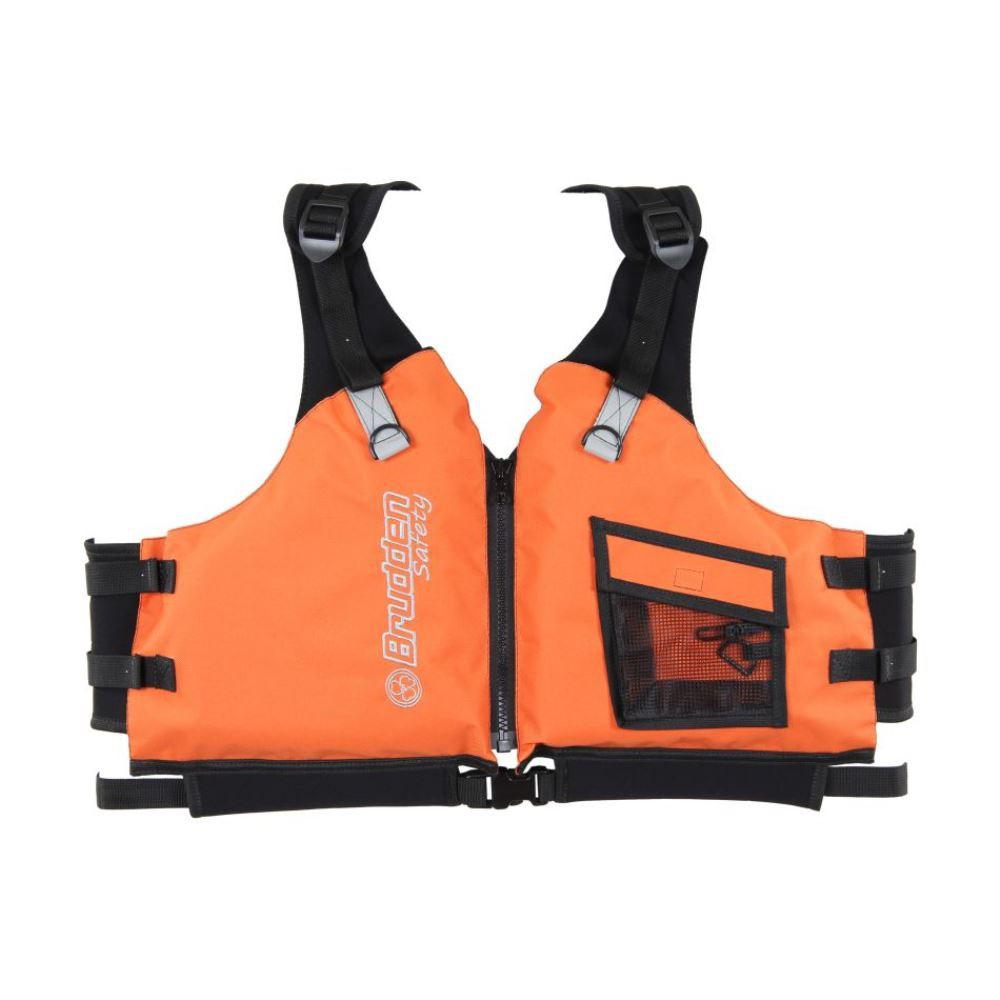 Colete de Flutuação Salva Vidas Brudden Náutica Confort Laranja G Homologado 80 90 100 110 Kg