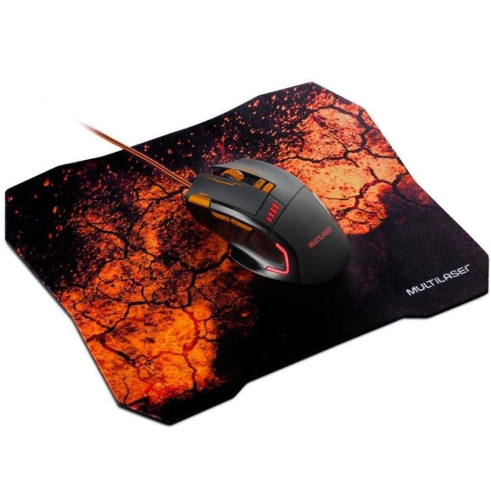 Combo Mouse e Mouse Pad Gamer Multilaser MO256