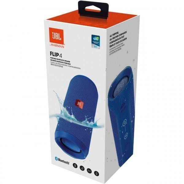 Caixa de Som Bluetooth JBL FLIP 4 Azul à Prova D'água