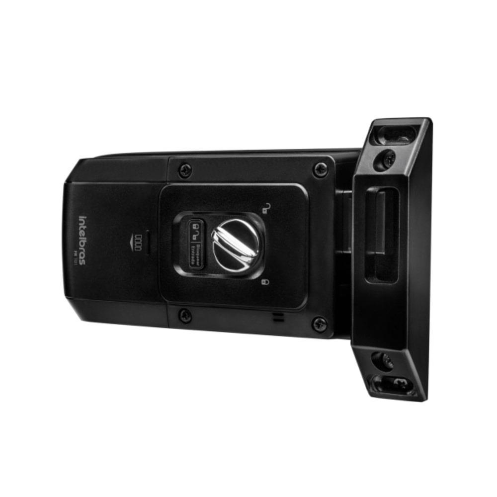 Fechadura Digital Intelbras FR101 Eletrônica de Sobrepor Abre com Senha Teclado Touch Screen