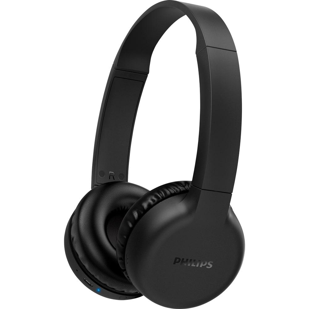 Fone de Ouvido Bluetooth Philips TAH1205 Preto Headphone Sem Fio Extra Bass Graves Extras TAH1205BK