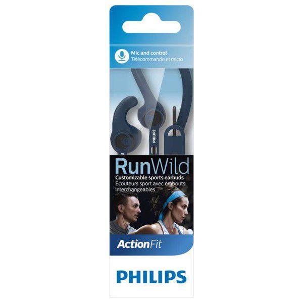 Fone de Ouvido Esportivo ActionFit Philips SHQ1405 com Microfone e Controle