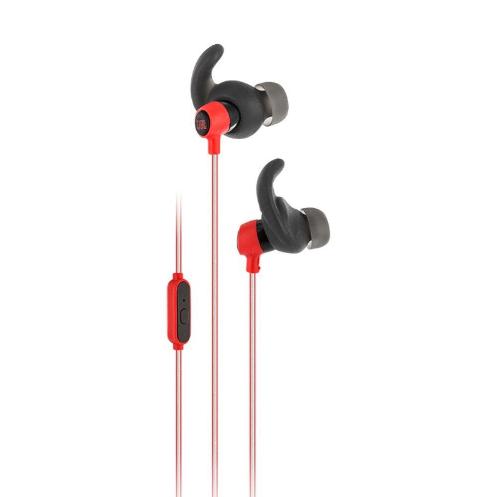 Fone de Ouvido Esportivo Intra-auricular JBL Reflect Mini Vermelho Preto à Prova de Suor