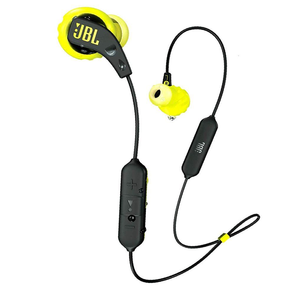 Fone de Ouvido Esportivo JBL Endurance Run Bluetooth Preto com Amarelo à prova de suor