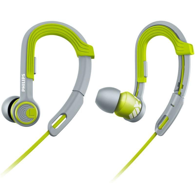 Fone de Ouvido Esportivo Philips SHQ3300 ActionFit À Prova de Suor Verde Cinza