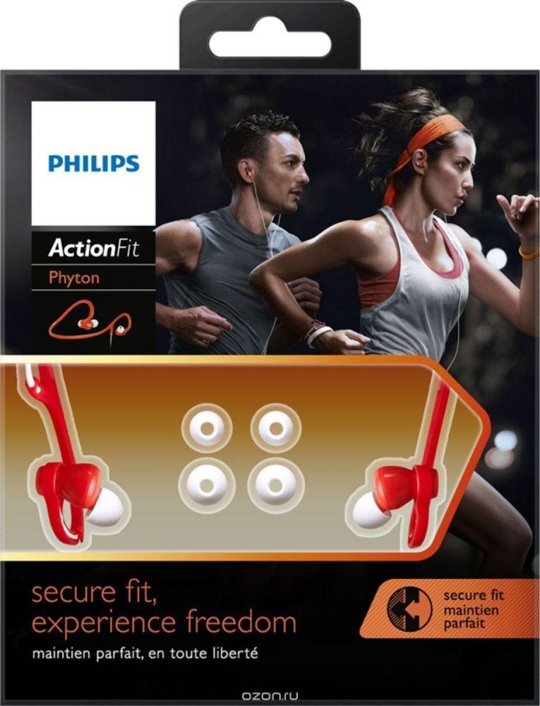 Fone de Ouvido Esportivo Philips SHQ4300 ActionFit Laranja Branco