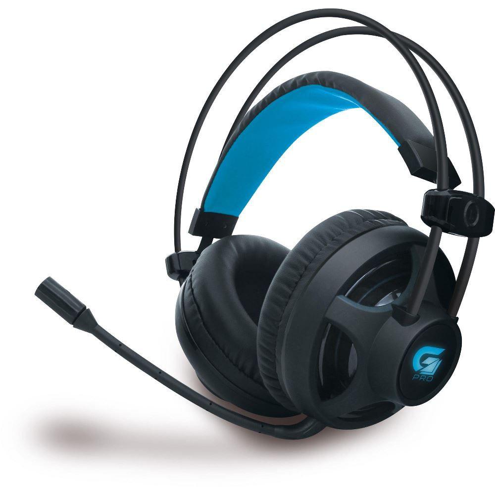 Fone de Ouvido Gamer Fortrek Pro H2 Preto LED Azul