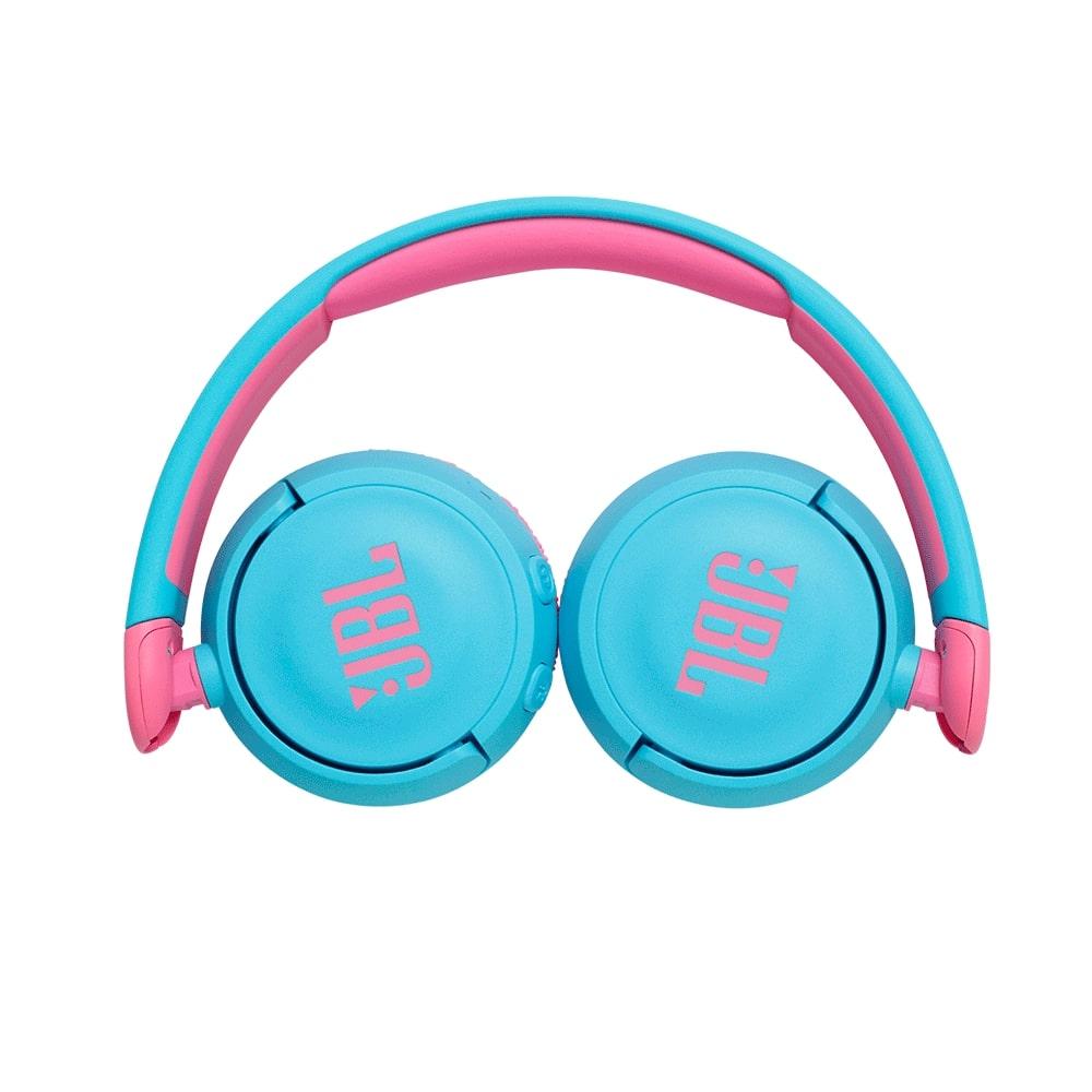 Fone de Ouvido Infantil JBL JR310 Bluetooth Azul Rosa com Microfone para Criança Sem fio JR310BT