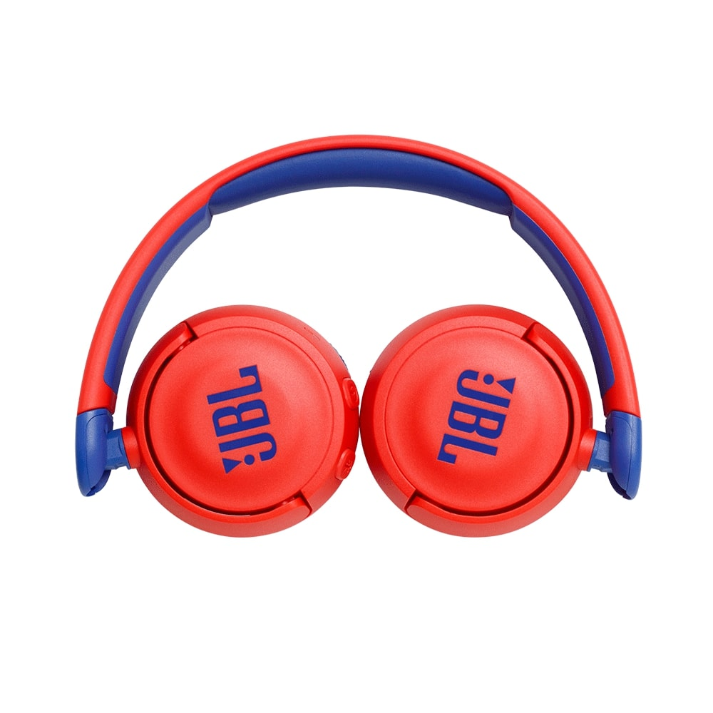 Fone de Ouvido Infantil JBL JR310 Bluetooth Vermelho Azul com Microfone para Criança Sem fio JR310BT