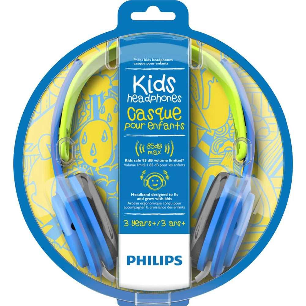 Fone de Ouvido Infantil Philips SHK2000 Azul com Limitador de Volume 85dB para Criança SHK2000BL/00