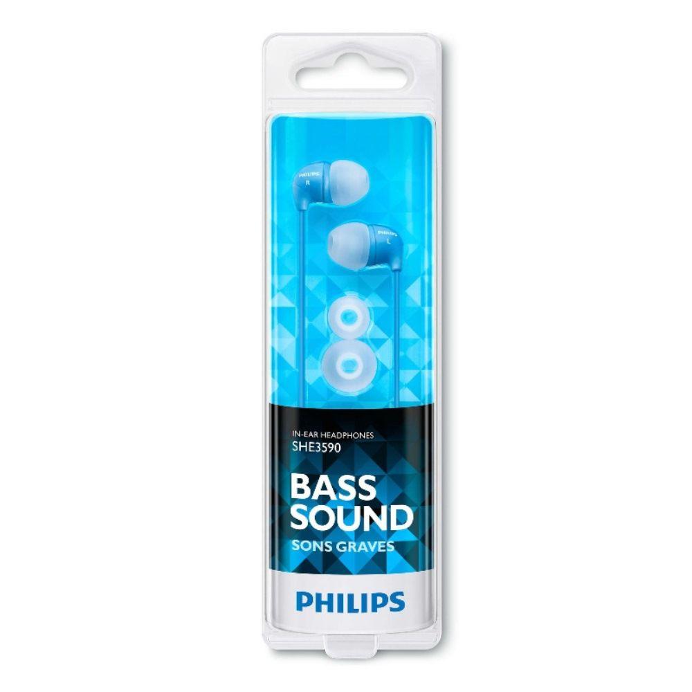 Fone de Ouvido Intra-auricular Philips SHE3590 Azul