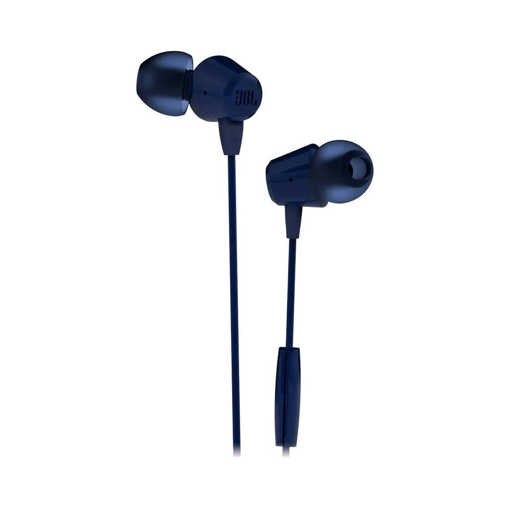 Fone de Ouvido JBL C50HI Azul Bass Sound com Microfone e Controle para Celular Tablet JBLC50HIBLU