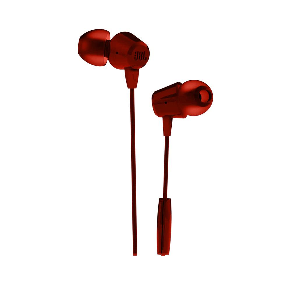 Fone de Ouvido JBL C50HI Vermelho Bass Sound com Microfone Controle para Celular Tablet JBLC50HIRED