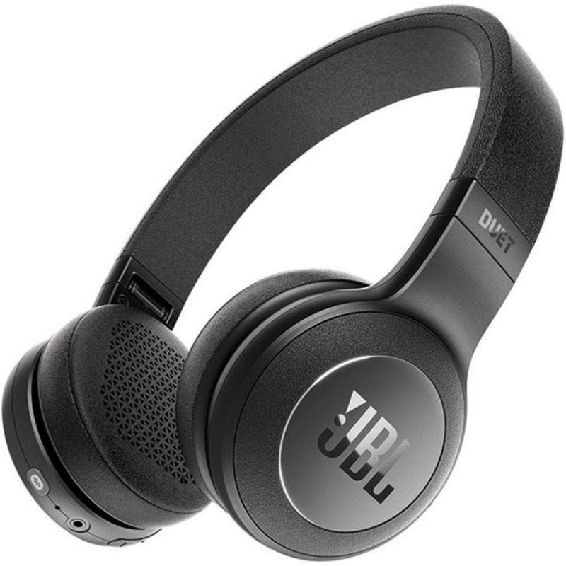 Fone de Ouvido JBL Duet BT BLK Preto Bluetooth e Cabo Destacável com Microfone Controle Android iOS