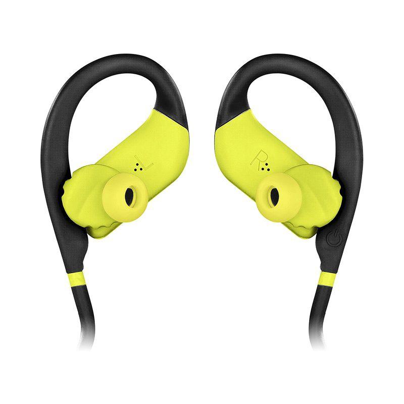 Fone de Ouvido JBL Endurance Dive Preto com Amarelo com MP3 Player Memória Interna à Prova de Água IPX7