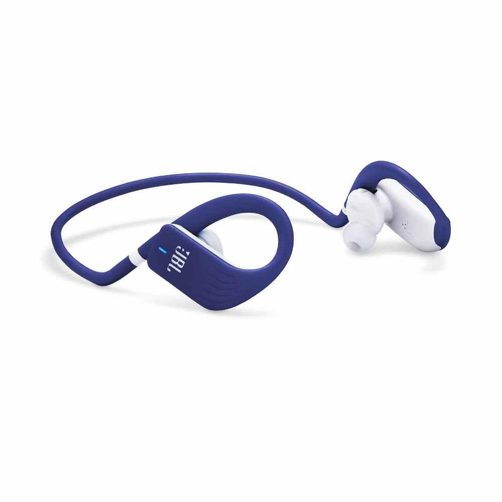 Fone de Ouvido JBL Endurance Jump Bluetooth Azul Esportivo À Prova D'água Neckband JBLENDURJUMPBLU