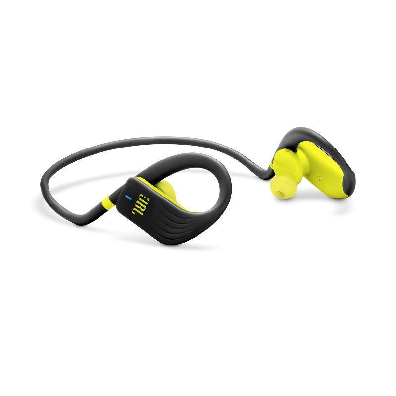 Fone de Ouvido JBL Endurance Jump Bluetooth Preto Amarelo Esportivo À Prova D'água IPX7 Neckband