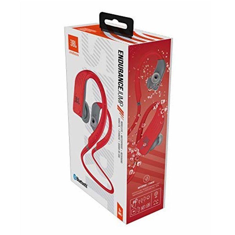 Fone de Ouvido JBL Endurance Jump Bluetooth Vermelho e Cinza Esportivo À Prova D\'água IPX7 Neckband