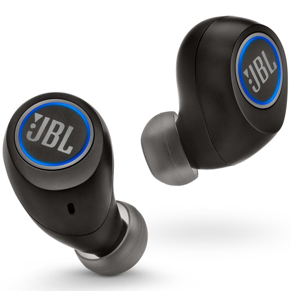 Fone de Ouvido JBL FREE X Bluetooth Preto Resistente à Água IPX5 Sem Fios com Estojo Carregador 24h
