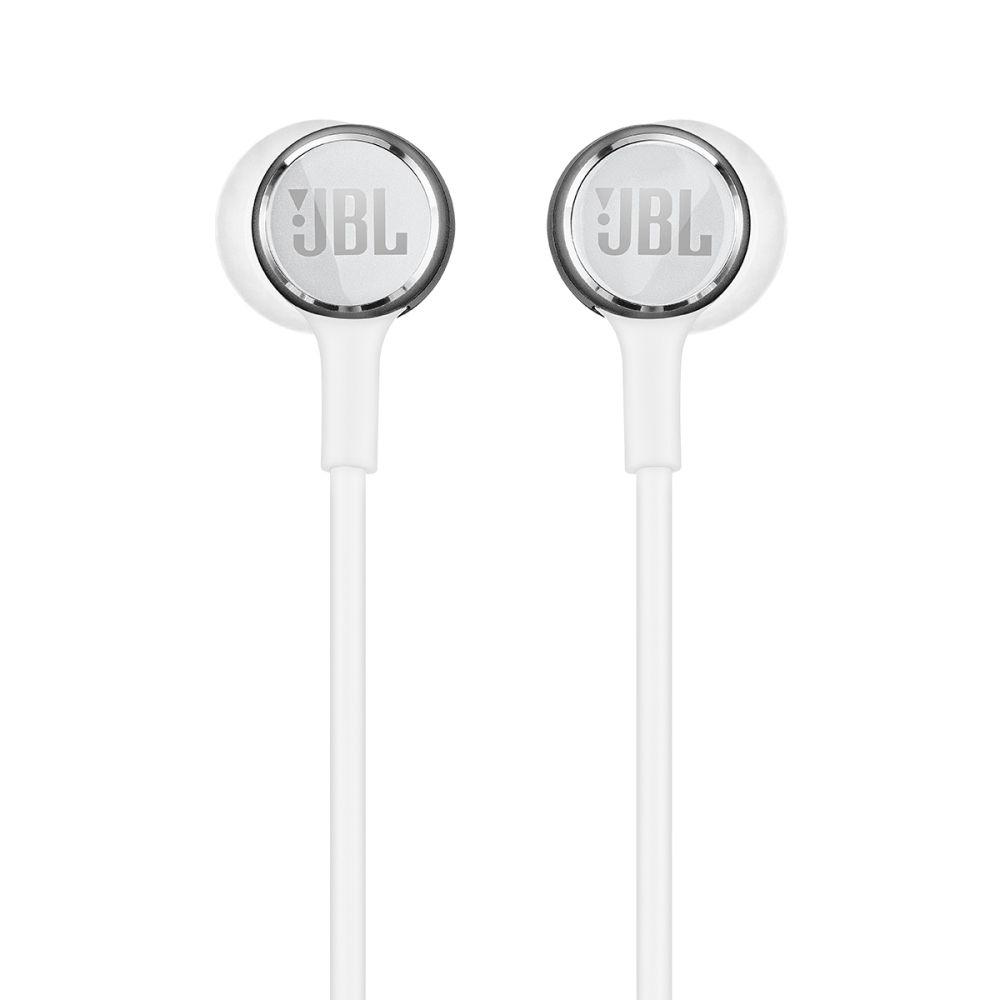 Fone de Ouvido JBL Live 100 Branco com Microfone Controle para Atender Chamadas