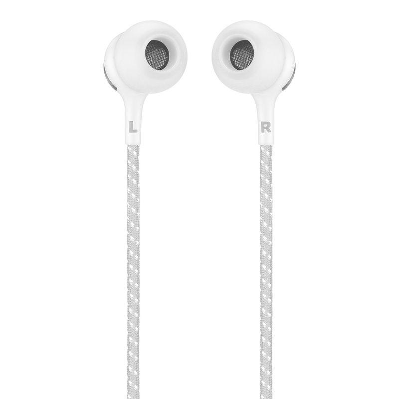 Fone de Ouvido JBL Live 200 BT Bluetooth Branco Neckband Atender Chamadas Hands-free Multi Conexão