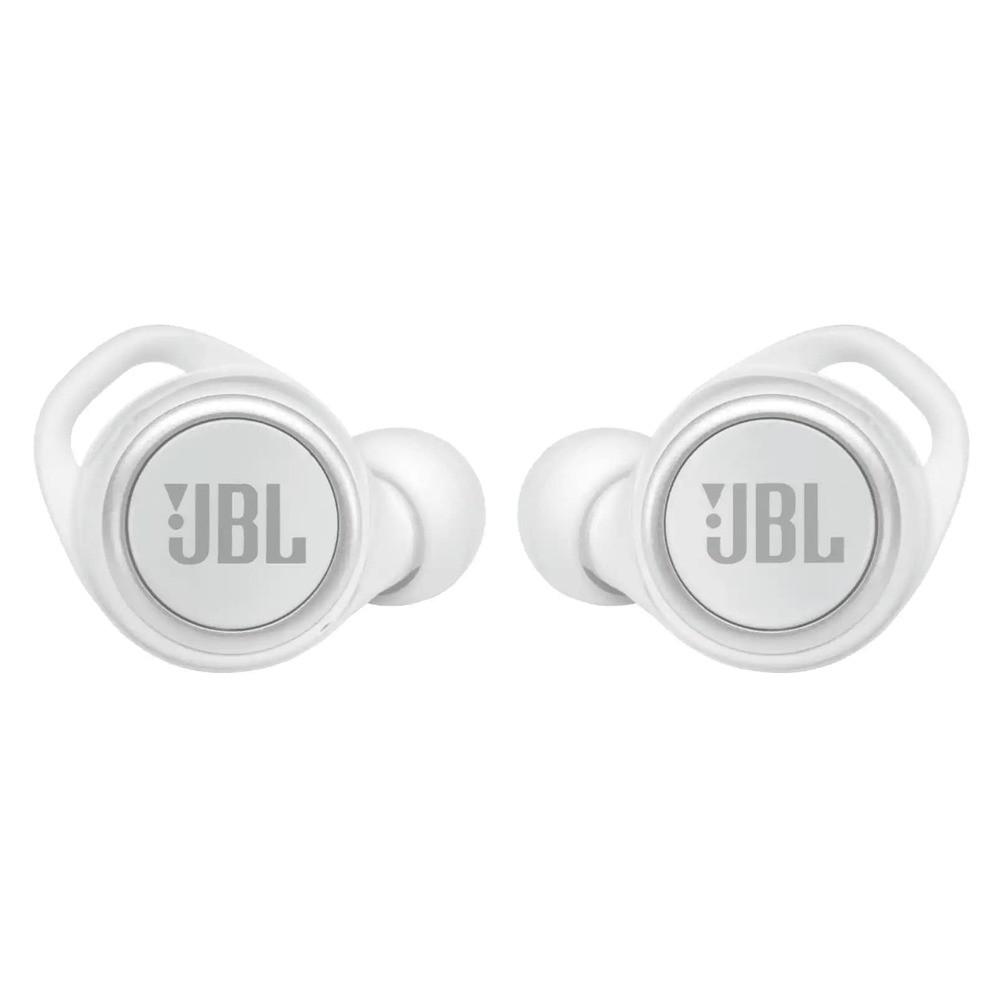 Fone de Ouvido JBL Live 300 TWS Branco True Wireless Stereo Alexa Google Assistant JBLLIVE300TWSWHT