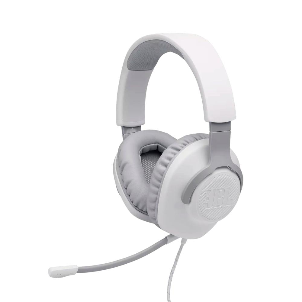 Fone de Ouvido JBL Quantum 100 Branco Headset Gamer com Microfone Destacável e Controle de Volume