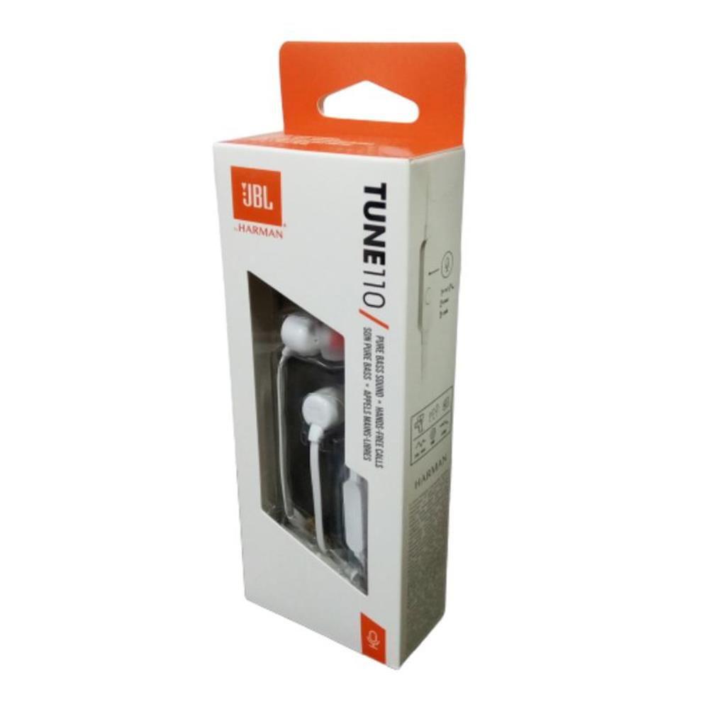 Fone de Ouvido JBL T110 WHT Branco Pure Bass com Microfone