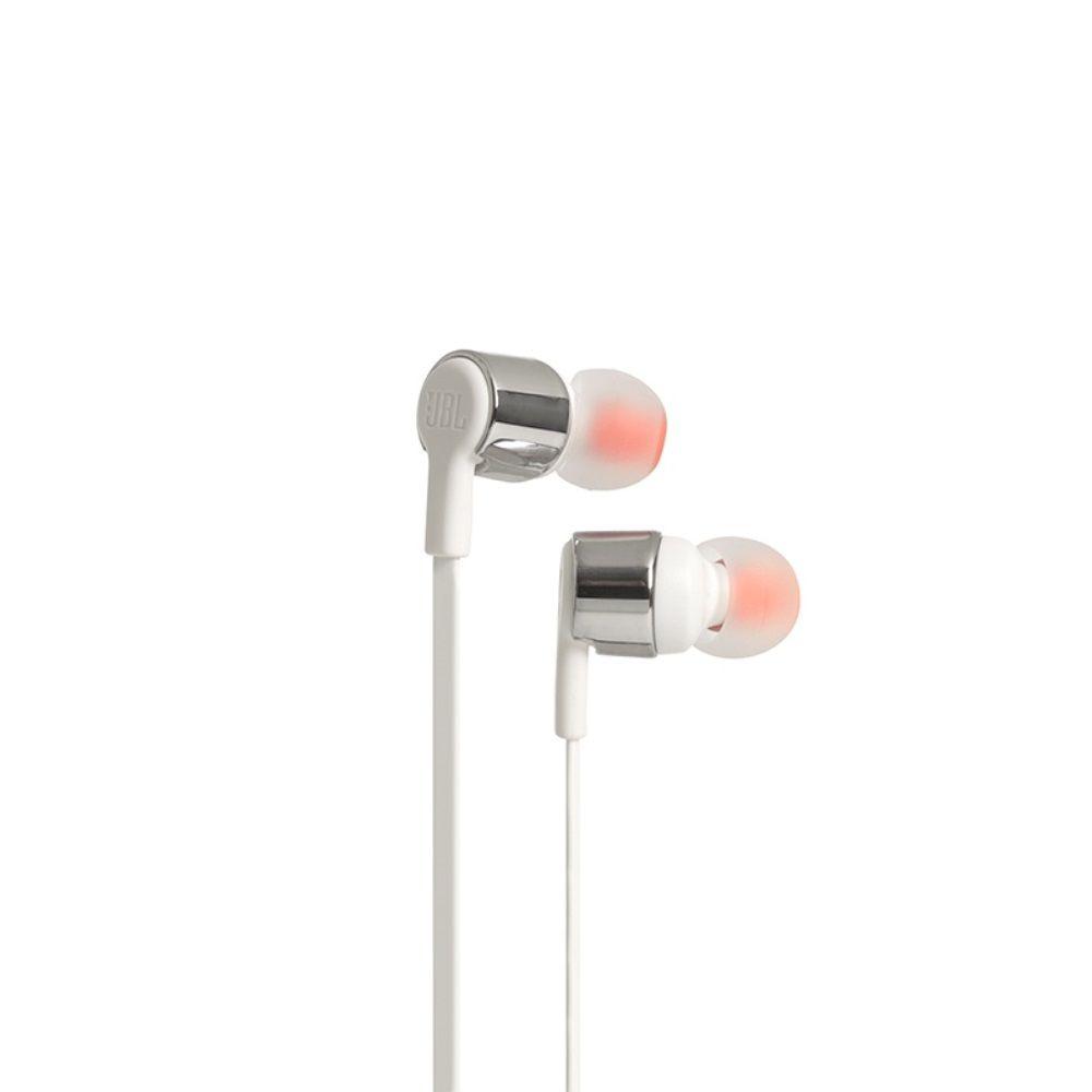 Fone de Ouvido JBL T210 GRY Branco Prata Intra Auricular com Microfone e Controle