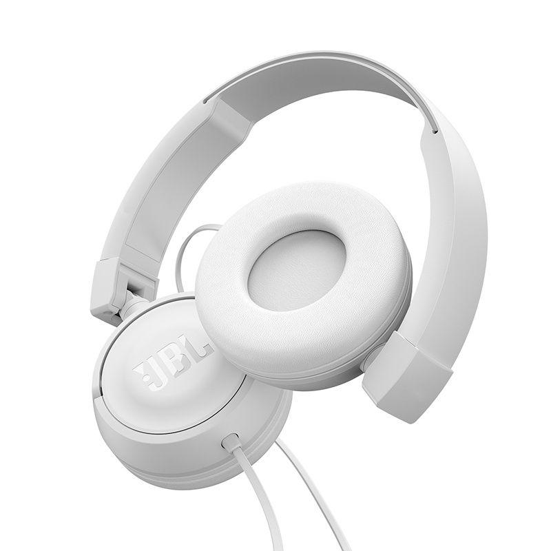 Fone de Ouvido JBL T450 Branco PureBass Com Microfone e Controle