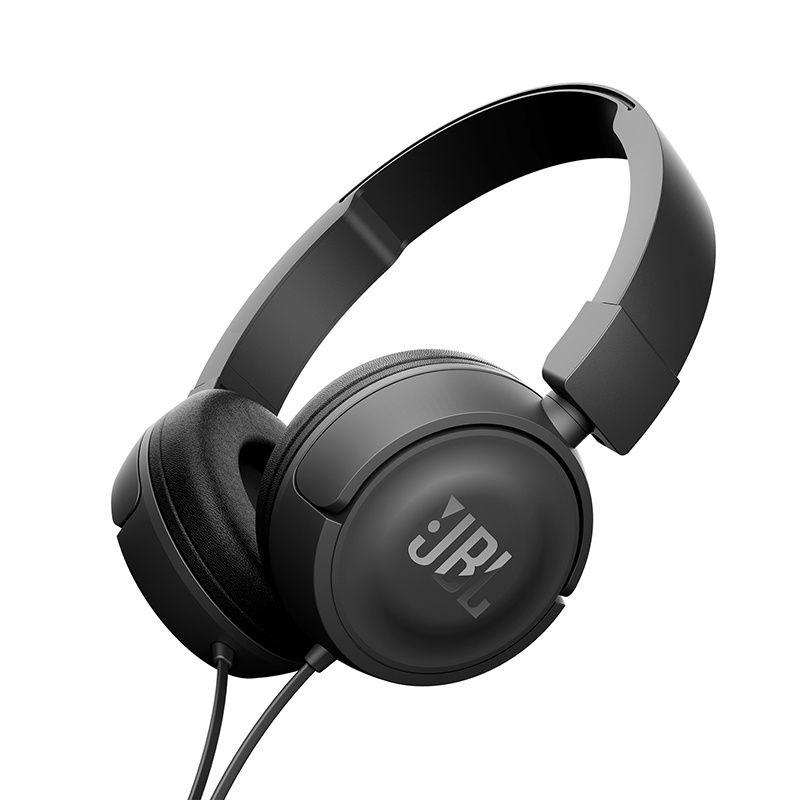 Fone de Ouvido JBL T450 Preto PureBass Com Microfone e Controle