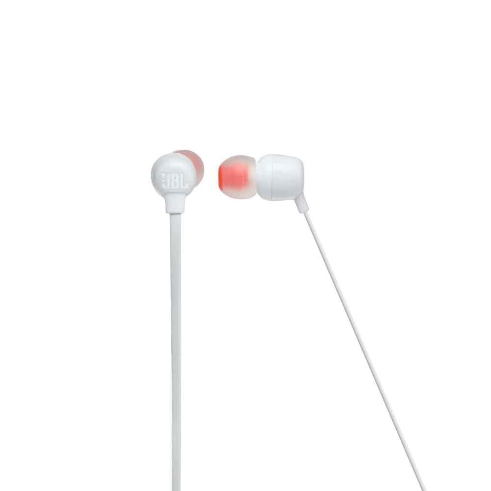 Fone de Ouvido JBL Tune 115BT Branco Bluetooth Multi Point Sem Fio com Microfone JBLT115BTWHT