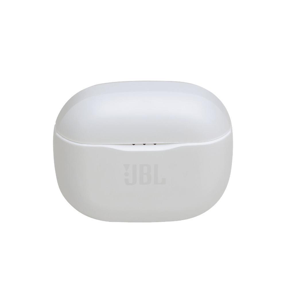 Fone de Ouvido JBL Tune 120TWS Bluetooth Branco Sem Fio com Estojo Carregador +12h JBLT120TWSWHT 120