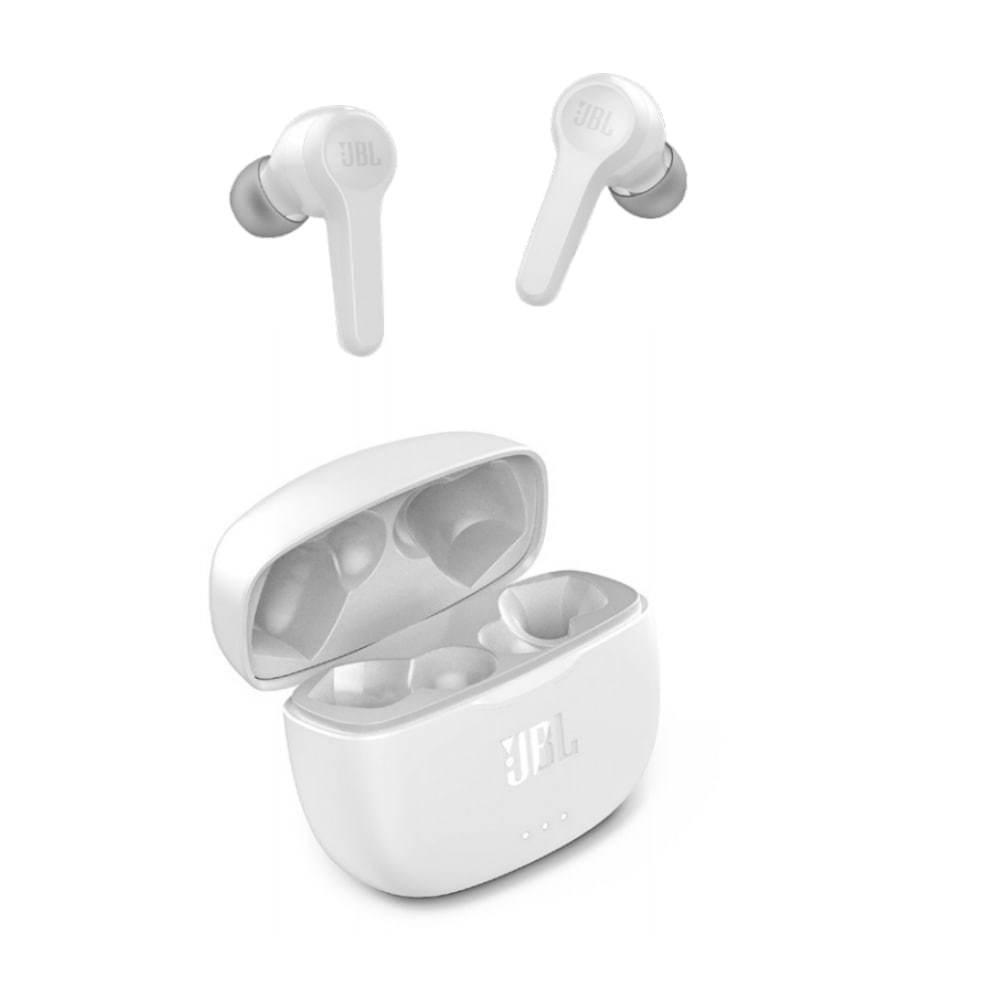 Fone de Ouvido JBL Tune 215 TWS Branco Sem Fio Bluetooth Pure Bass True Wireless JBLT215TWSWHT
