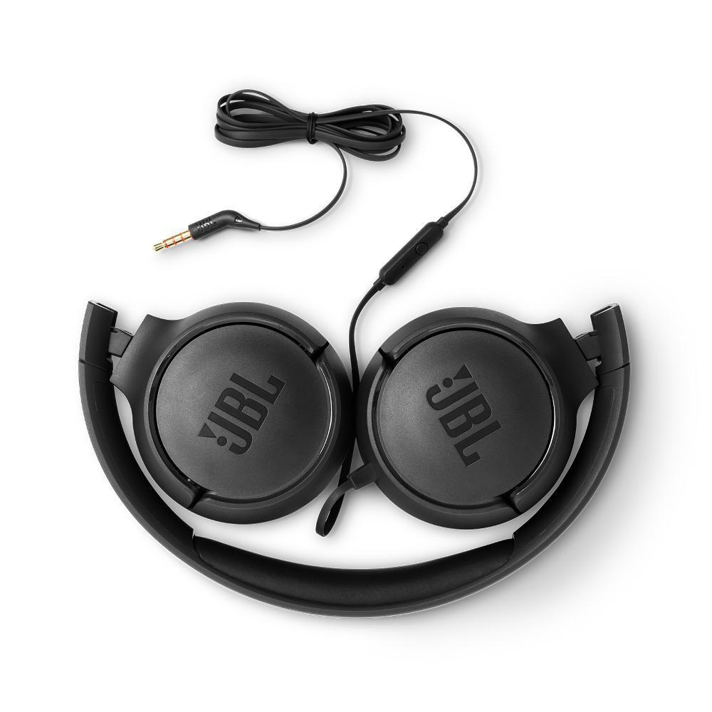 Fone de Ouvido JBL Tune 500 Preto Headset Headphone com Microfone