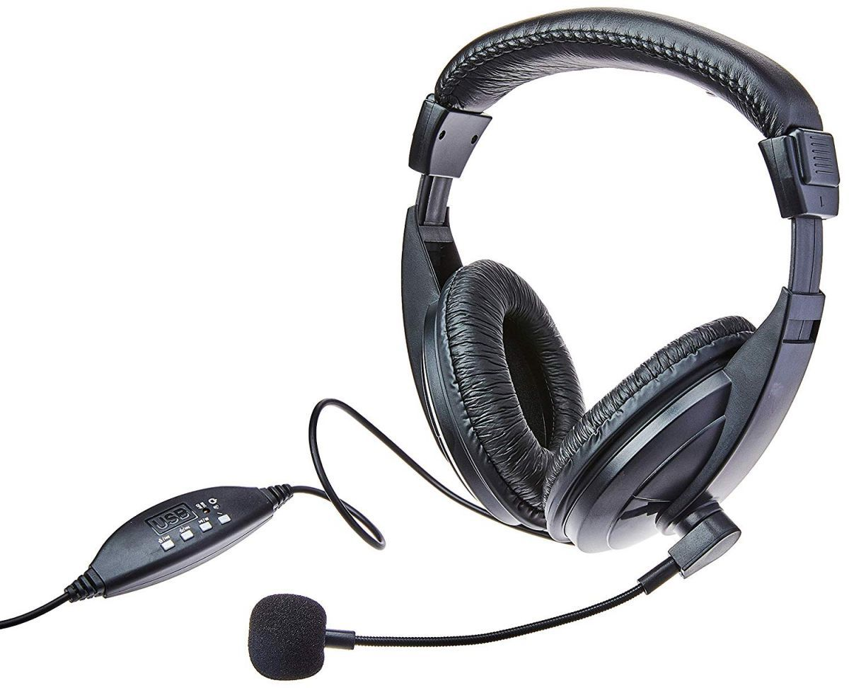 Fone de Ouvido Multilaser Giant PH245 USB Headset Profissional Grande com Microfone para PC Notebook