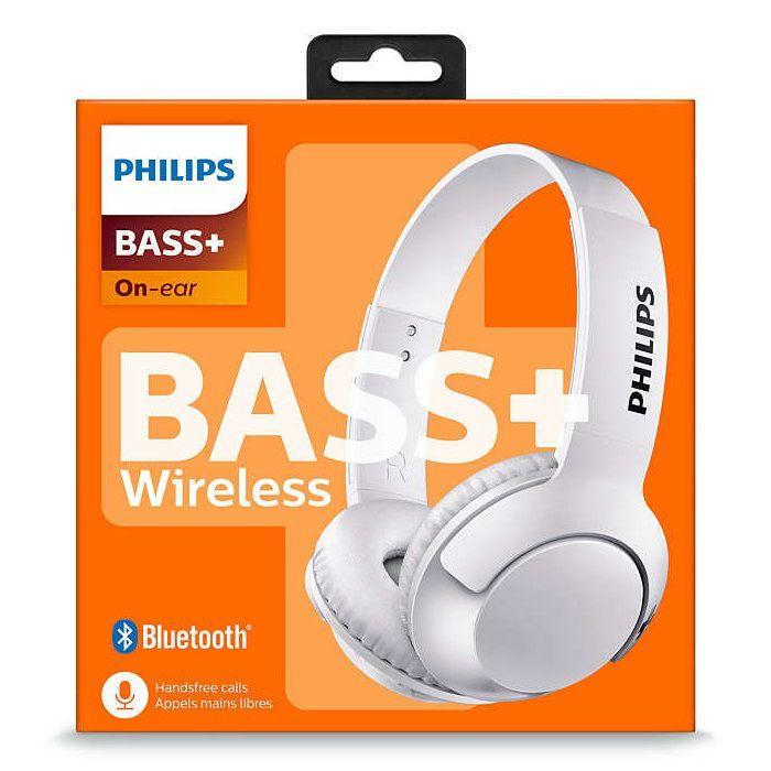 Fone de Ouvido Philips SHB3075 Bluetooth Branco Headphone Sem Fio com Microfone p/ Atender Chamadas