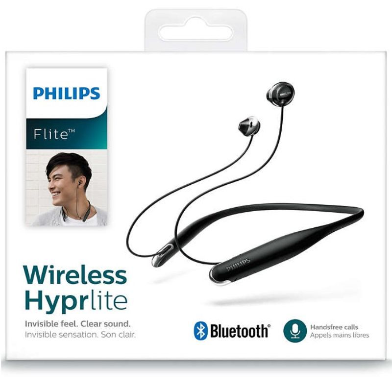 Fone de Ouvido Philips SHB4205 Bluetooth Preto Flite Wireless Hyprlite Neckband com Microfone