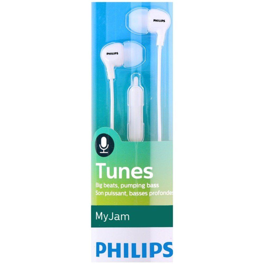 Fone de Ouvido Philips SHE3555 Branco Intra Auricular com Microfone
