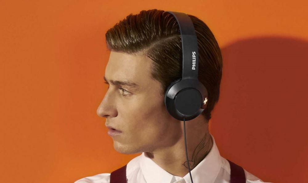 Fone de ouvido Philips SHL3075 Preto Com Microfone