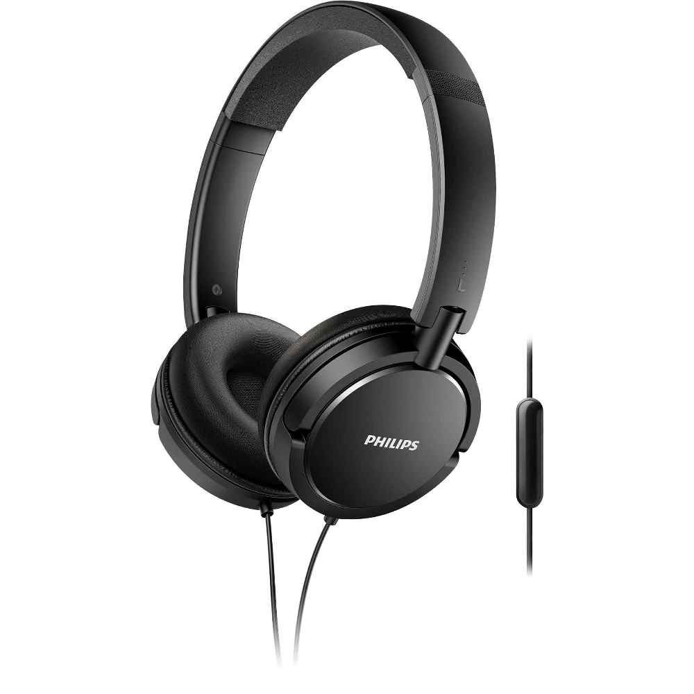 Fone de Ouvido Philips SHL5005 Preto Headset Grave Extra Bass Headphone com Microfone SHL5005/00